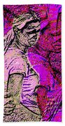 Lost In Thoughts Of Self Reflection Beach Towel