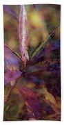 Lost Leaves Decorated In Purple 6003 Ldp_2 Beach Towel