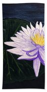 Lotus Blossom At Night Beach Towel
