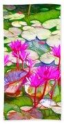 Lotus Flower 3 Beach Towel