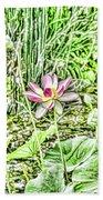 Lotus Flower Bloom In Pink 2 Beach Towel