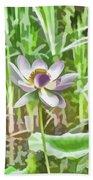 Lotus Flower On The Water Beach Towel