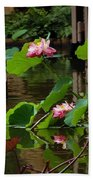 Lotus Flower Beach Towel