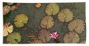 Lotus Pond Beach Towel