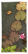 Lotus Pond Beach Towel