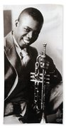 Louis Armstrong, American Jazz Musician Beach Towel