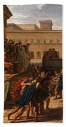 Louis Lafitte - Brutus Listening To The Ambassadors From The Tarquins Beach Towel
