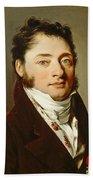 Louis-leopold Boilly - Portrait Of A Gentleman Beach Towel