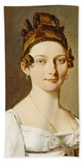 Louis-leopold Boilly - Portrait Of A Lady Beach Sheet