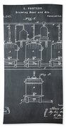 Louis Pasteur Brewing Beer And Ale Patent 1873 Chalk Beach Towel