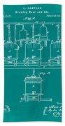 Louis Pasteur Brewing Beer And Ale Patent 1873 Green Beach Towel