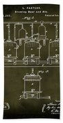 Louis Pasteur Brewing Beer And Ale Patent 1873  Grunge Beach Towel