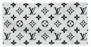 Louis Vuitton Pattern Lv 07 Grey Beach Towel
