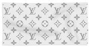 Louis Vuitton Pattern - Lv Pattern 14 - Fashion And Lifestyle Beach Towel