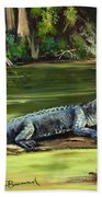 Louisiana Gator Beach Towel