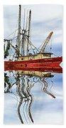 Louisiana Shrimp Boat 4 - Paint Beach Towel
