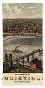 Louisville Vintage Map Beach Towel