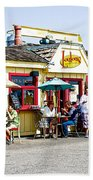Loulou's On The Commercial Pier In Monterey-california Beach Towel