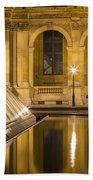 Louvre Courtyard Lamps - Paris Beach Towel