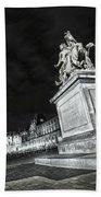 Louvre Museum 7 Art Bw Beach Towel