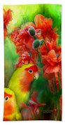 Love Among The Poppies Beach Towel