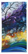 Love And Laughter By Madart Beach Towel by Megan Duncanson