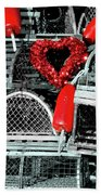 Love And Lobster Beach Towel