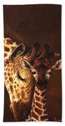 Love And Pride Giraffes Beach Towel