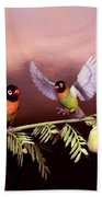 Love Birds By John Junek  Beach Towel