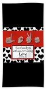 Love - Bw Graphic Beach Sheet