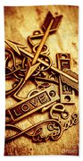 Love Charms In Romantic Signs And Symbols Beach Sheet