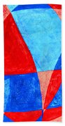 Love In Abstract Word Art Beach Towel