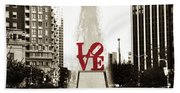 Love In Philadelphia Beach Towel