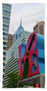 Love In The City - Philadelphia Beach Towel