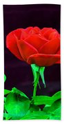 Love Is A Rose Beach Towel