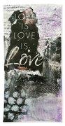 Love Is Love Beach Sheet