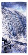 Love Is The Seventh Wave Beach Towel