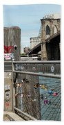Love Locks In Brooklyn New York Beach Towel