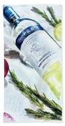 Love My Wine Beach Towel by Pennie  McCracken