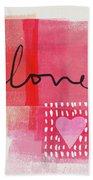 Love Notes- Art By Linda Woods Beach Towel