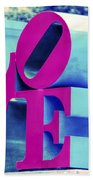 Love Philadelphia Neon Pink Beach Towel