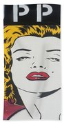 Love Puppet Beach Towel