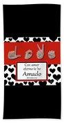 Love Spanish Bw Graphic Beach Towel