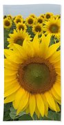 Love Sunflowers Beach Towel