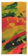 Love Those Diagonals - Yellow 1 Beach Towel