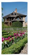 Lovely Garden And Cottage Beach Towel