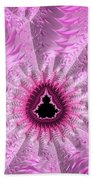 Lovely Pink Fractal Art Beach Towel