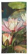 Lovely Waterlilies 7 Beach Towel