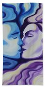 Lovers In Eternal Kiss Beach Towel