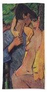 Lovers Beach Towel by Otto Muller